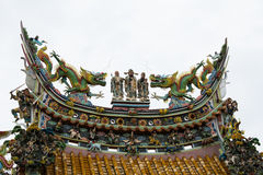 Cima del tempio del tetto Immagine Stock Libera da Diritti