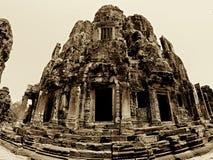 Cima del tempio di Bayon Immagini Stock