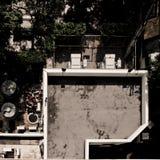 Cima del tetto dalla vista superiore fotografie stock