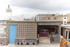 Cima del tetto del deposito del tappeto immagine stock libera da diritti
