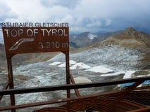 Cima del Tirolo Fotografia Stock
