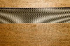 Cima dell'amplificatore stereo ad alta fedeltà d'annata Gabinetto di legno Immagine Stock Libera da Diritti