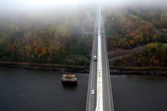 Cima dell'osservatorio del ponte sospeso Fotografie Stock Libere da Diritti