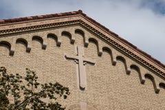 Cima della chiesa di Denver Colorado immagine stock libera da diritti