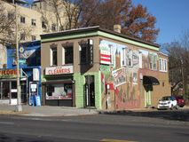 Cima della città in Washington DC immagine stock
