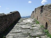 Cima della collina della grande muraglia a Jinshanling immagine stock libera da diritti