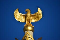 Cima della colonna di indipendenza a Astana fotografia stock