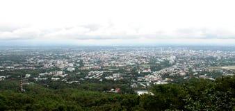 Cima della forma di vista della città Fotografie Stock