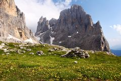 Cima della madonna in pale di san martino - dolomi Stock Photography
