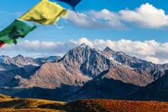 Cima della montagna nelle alpi di Tyrolian Immagini Stock