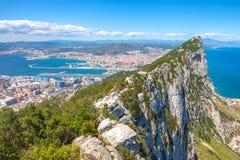 Cima della roccia di Gibilterra Immagini Stock Libere da Diritti