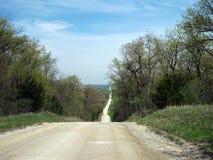 Cima della strada non asfaltata di Kansas Fotografie Stock
