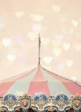 Cima della tenda del carosello Fotografia Stock