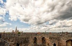 Cima della torre di clifford di York Fotografie Stock Libere da Diritti