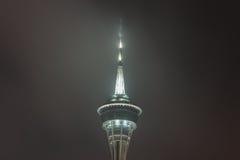 Cima della torre di Macao alla notte Fotografie Stock