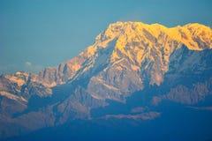 Cima delle montagne in Pokhara, Nepal Fotografia Stock
