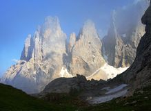 Cima di campido in pale di san martino Stock Photography