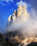Cima di campido in pale di san martino with tourist Royalty Free Stock Photo