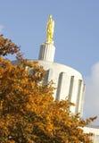Cima di costruzione capitale in Salem Oregon United States fotografia stock