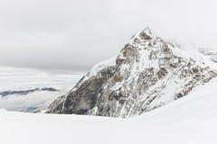 Cima di Jungfrau o di Jungfraujoch gamma svizzera di Europa, alpi scenica Immagine Stock Libera da Diritti