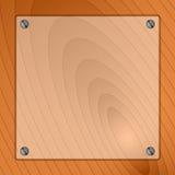 Cima di legno di vetro del fondo Fotografie Stock