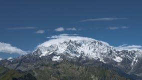 Cima di Monte Rosa- immagine stock libera da diritti