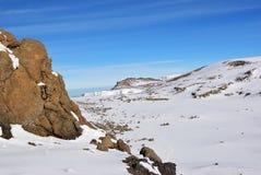 Cima di Mt Kilimanjaro La Tanzania, Africa Immagini Stock