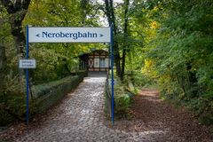 Cima di Nerobergbahn a Wiesbaden, Germania immagine stock libera da diritti