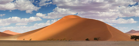 Cima di panorama della duna 45 a Sossusvlei Immagini Stock