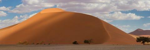 Cima di panorama della duna 45 a Sossusvlei Immagini Stock Libere da Diritti