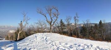 Cima di Pidan della collina per sciare Fotografia Stock