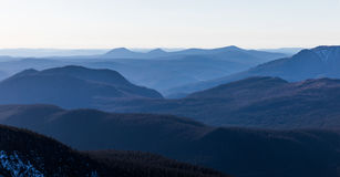 Cima di Richardson Mountain in parco nazionale di Gaspe in Quebec, Fotografia Stock