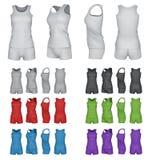 Cima di sport ed insieme in bianco del modello di shorts Fotografia Stock Libera da Diritti