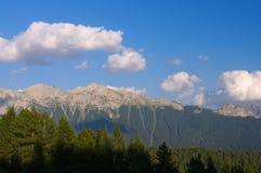 Cima di Undici et Val di Fassa Photographie stock libre de droits