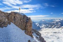 Cima di Zugspitze della Germania Immagini Stock Libere da Diritti