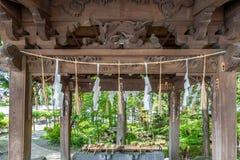 Cima giapponese di legno della struttura fotografie stock