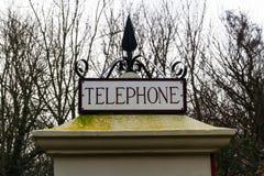 Cima K1 della cabina telefonica, Regno Unito fotografie stock libere da diritti