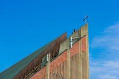 Cima moderna della chiesa Fotografia Stock Libera da Diritti
