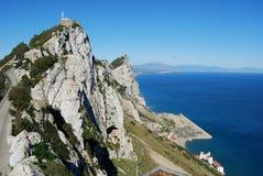 Cima superiore della riserva naturale della roccia di Gibilterra (est) Fotografie Stock Libere da Diritti