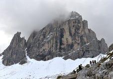 Cima Undici, Sesto Dolomites Fotografia Stock