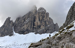 Cima Undici, Sesto Dolomites Immagini Stock Libere da Diritti