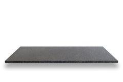Cima vuota degli scaffali di pietra naturali isolati su fondo bianco fotografie stock