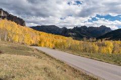 Cimarronweg de Vroege Herfst in Zuidwestencolorado Royalty-vrije Stock Foto