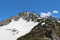 Cimas de la montaña turcas Fotografía de archivo