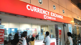 CIMB BANK CURRENCY EXCHANGE Royalty Free Stock Photography