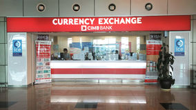 CIMB BANK CURRENCY EXCHANGE Royalty Free Stock Images