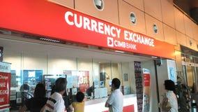 CIMB banka wymiana walut fotografia royalty free