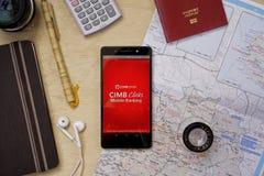 CIMB-Klicken-Anwendung stockbilder