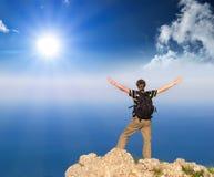 Cimber de montagne Photographie stock libre de droits