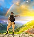 Cimber de montagne Images libres de droits